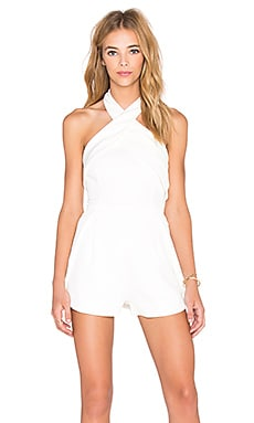 Finders Keepers Wrong Direction Romper in White