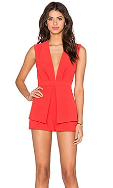 x REVOLVE Next In Line To Take A Bow Romper in Red