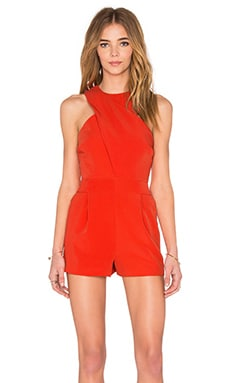 Finders Keepers Hurricane Playsuit in Pomegranite