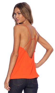 Finders Keepers All Time High Cut Out Back Tank in Cherry Tomato