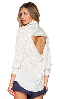 Finders Keepers Peacekeeper shirt in Pinstripe White