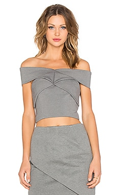 Finders Keepers Be Still Crop Top in Charcoal