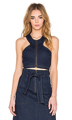 Finders Keepers Aerial Love Crop Top in Indigo