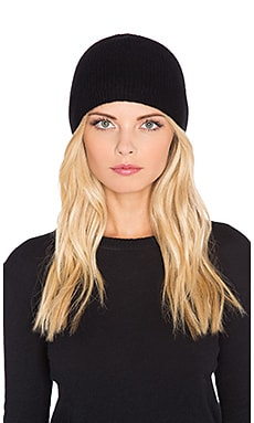 Fine Collection Cashmere Beanie in Black