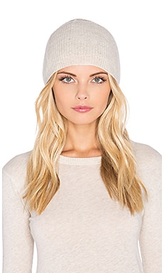 Fine Collection Cashmere Beanie in Heather Beige