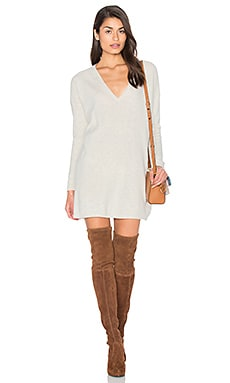 Fine Collection Sophie Sweater Dress in Heather Ivory