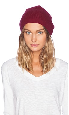 Fine Collection Beanie in Framboise