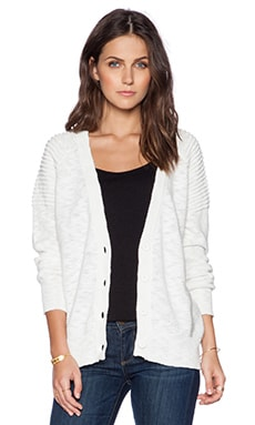 Fine Collection V Neck Cardigan in Ivory