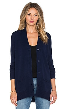 Fine Collection Long Sleeve Cardigan in Navy