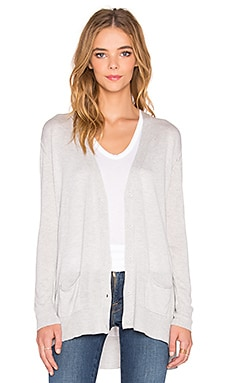 Fine Collection Front Pocket Cardigan in Heather Grey