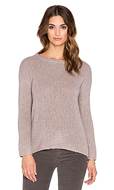 Fine Collection Split Back Sweater in Vison