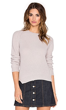Fine Collection Crew Neck Sweater in Dust