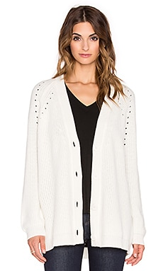 Fine Collection Cashmere Cardigan in Ivory