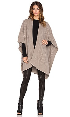 Fine Collection Open Front Cape in Heather Ashes