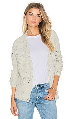 Phoebe Scoop Neck Sweater in Heather Ivory