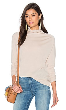 Fine Collection Odetta Turtleneck Sweater in Heather Beige