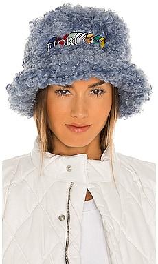 Shearling Bucket Hat FIORUCCI $65 NEW