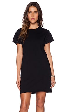 First Base Tee Dress in Black