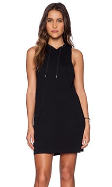 First Base Hooded Muscle Tank Dress in Black