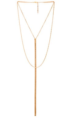 Five and Two Jagger Necklace in Gold