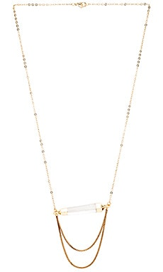 Five and Two Zion Necklace in Quartz & Gold