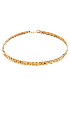 Five and Two Dominique Choker in Gold