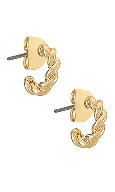 Quinn Gold Plated Earring Five and Two $35