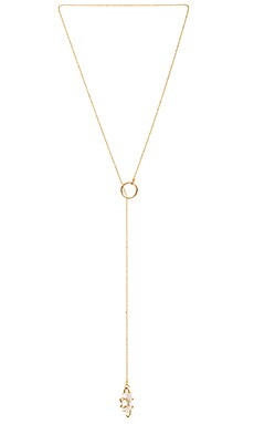 Five and Two Tavi Necklace in Gold