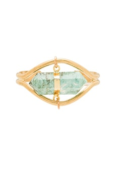 Five and Two x REVOLVE Braxton Cuff in Brass & Turquoise