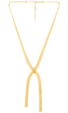 Five and Two Paloma Necklace in Gold & Brass