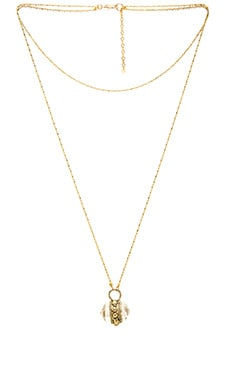 Five and Two Simone Necklace in Quartz & Gold
