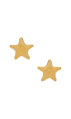 Tess Tiny Star Earrings Five and Two $27