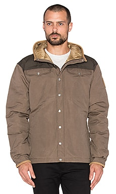 Fjallraven Greenland No. 1 Down Jacket in Taupe & Mountain Grey