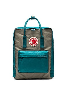 Fjallraven Save the Artic Fox Kanken in Ocean Green & Fog