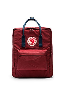 Fjallraven Kanken in Ox Red & Royal Blue