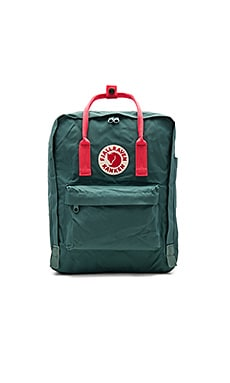 Fjallraven Kanken in Frost Green & Peach Pink