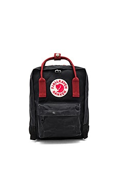 Fjallraven Kanken Mini in Black & Ox Red
