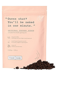 Original Coffee Scrub frank body $17 BEST SELLER