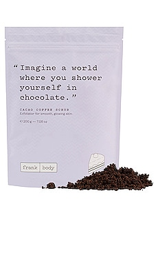 Cacao Coffee Scrub frank body $19