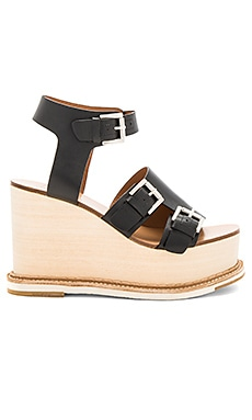 Holly Wedge in Vacchetta Black