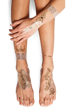 FLASH Tattoos Sheebani Tattoo in Gold & Silver