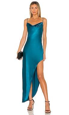 High Slit Cowl Slip Dress fleur du mal $485 NEW