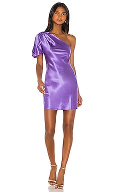 One Shoulder Bias Mini Dress fleur du mal $495 NEW ARRIVAL