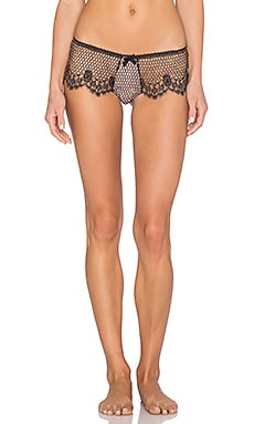 fleur du mal Cage Lace Hiphugger in Black & Blush
