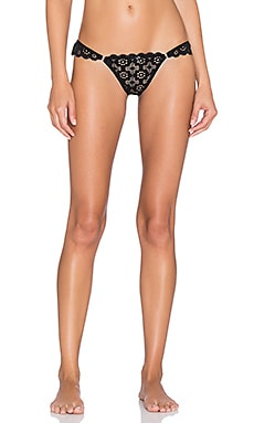 fleur du mal Crochet Lace Thong in Black