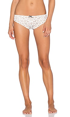 fleur du mal Crochet Lace Cheeky in White