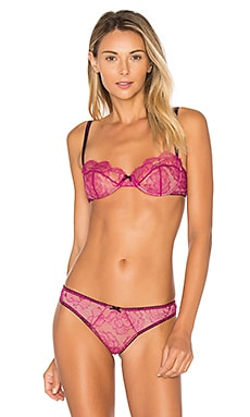Rose Lace Demi Bra in Berry
