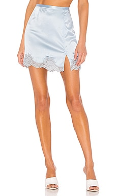 James Lace Slip Skirt fleur du mal $295