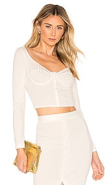 Long Sleeve Knit Bra Top fleur du mal $325