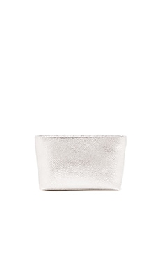 FLYNN Finch Clutch in Silver